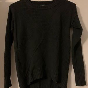 High low black sweater
